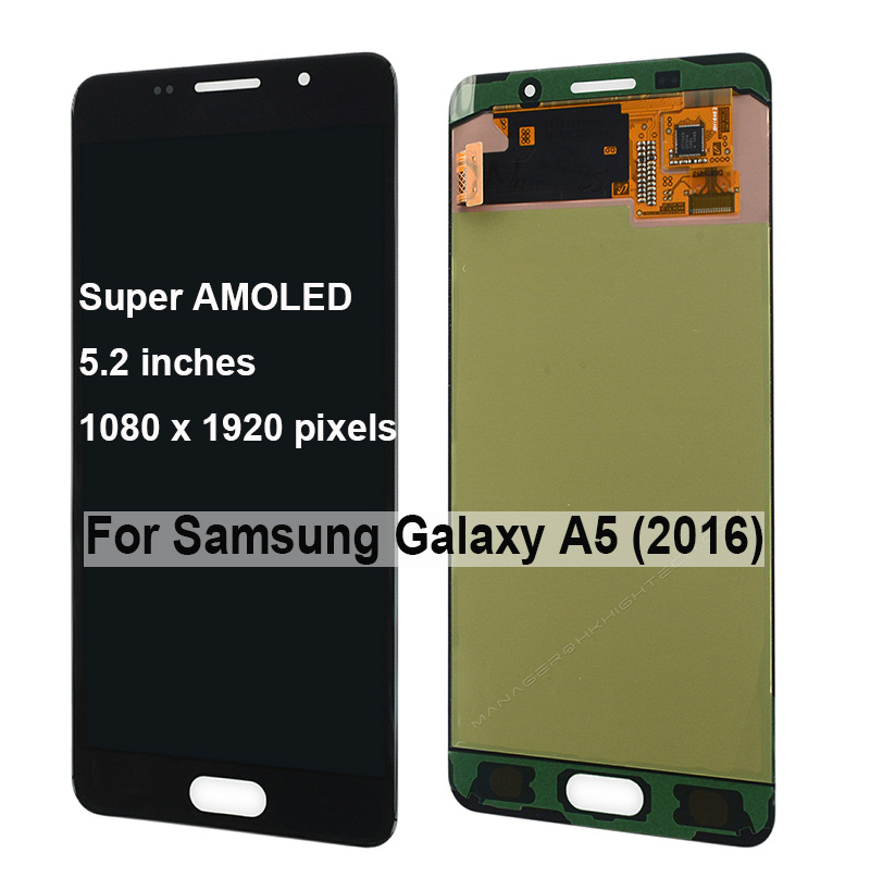 ORIGINALE AMOLED A510F A510M A510FD sostituzione dello schermo per Samsung Galaxy A5 2016 A510 display lcd Montaggio Digitizer TouchScreen