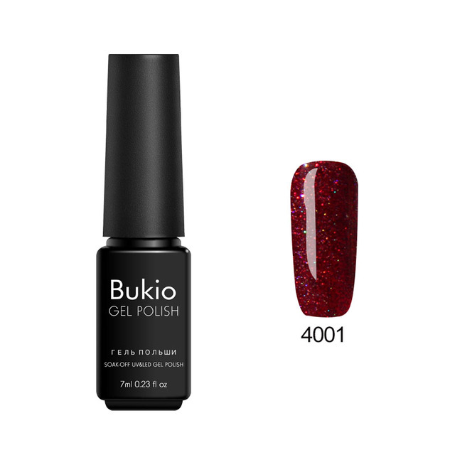 Bukio Nail Decoration Long-lasting Art Lucky Colorful Neon Starry Semi Permanent Lacquer Gel Nail Polish with Sparkles 19 Colors