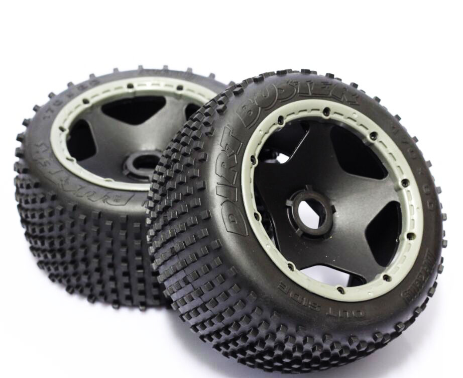 2pcs Rear tires small spikes tyres with wheels foam for 1/5 Baja HPI ROVAN 85023 KM RC Gasoline car B502 rovan gas baja 30 5cc 4 bolt chrome engine with walbro carb and ngk spark plug for 1 5 scale hpi km losi rc car parts