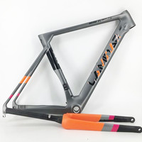 LAMINAR Full Carbon Frame Barrel Axle Carbon Bike Frame Road Bike Frame Fork Size 490MM