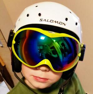 Image 2 - children snow ski goggles for boys girls anti fog UV400 double lens winter snowboard glasses googles skibrille kids ski goggles