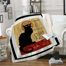цена Cat 3D Print Retro Throw Blanket Rodeo Annual Vintage Poster Pattern Grunge Design Warm Microfiber Dropship онлайн в 2017 году