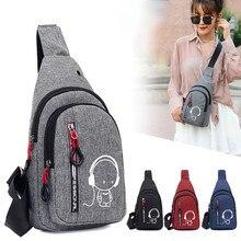 цена на Chest bag Women Small Bag Wild Messenger Bag Fashion One Shoulder Plaid Chest Bag
