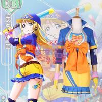 Hot Anime LoveLive! cosplay Ayase Eli cartoon Halloween Masquerade party cosplay Orange blue Baseball clothing costume