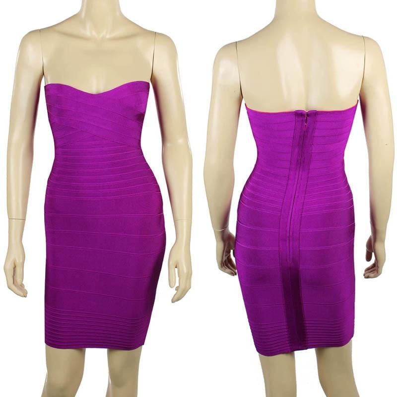 Ким Кардашьян, без бретелек, с открытыми плечами,, сексуальное женское платье, вискоза, бодикон, опт, дешевые мини обнаженные платья - Цвет: Puple