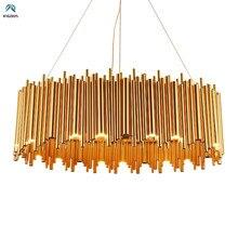 Пост современный роскошный блеск позолоченный металл G9 светодиодный подвесной светильник Гостиная светодиодный подвесной светильник с регулируемой кабель светодиодный светильник для дома