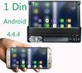 Mapa livre 7 Polegada 1 Din Android 4.4.4 Universal Carro DVD Player Bluetooth GPS de Navegação Touchscreen, Rádio