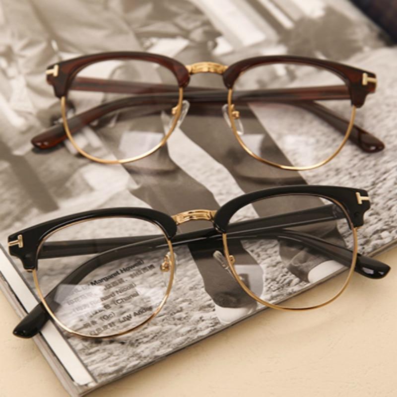 e00e35badcb2b Moda Óculos Ópticos Miopia Computador Óculos de Armação Das Mulheres Dos  Homens de Design Da Marca