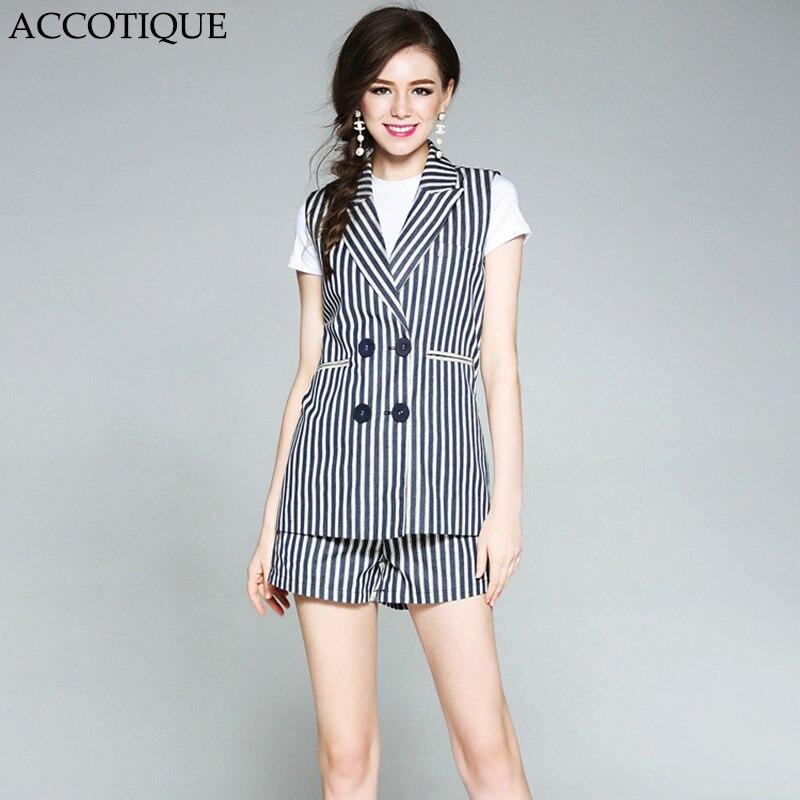 무료 배송 봄 여름 여성 패션 스트 라이프 민소매 정장 + 포켓 반바지 2 개 세트 conjunto feminino-에서여성 세트부터 여성 의류 의  그룹 1