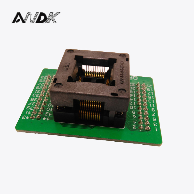 TQFP44 FQFP44 QFP44 to DIP44 Programming Socket OTQ-44-0.8-14 Pitch 0.8mm IC Body Size 10x10mm Test Adapter