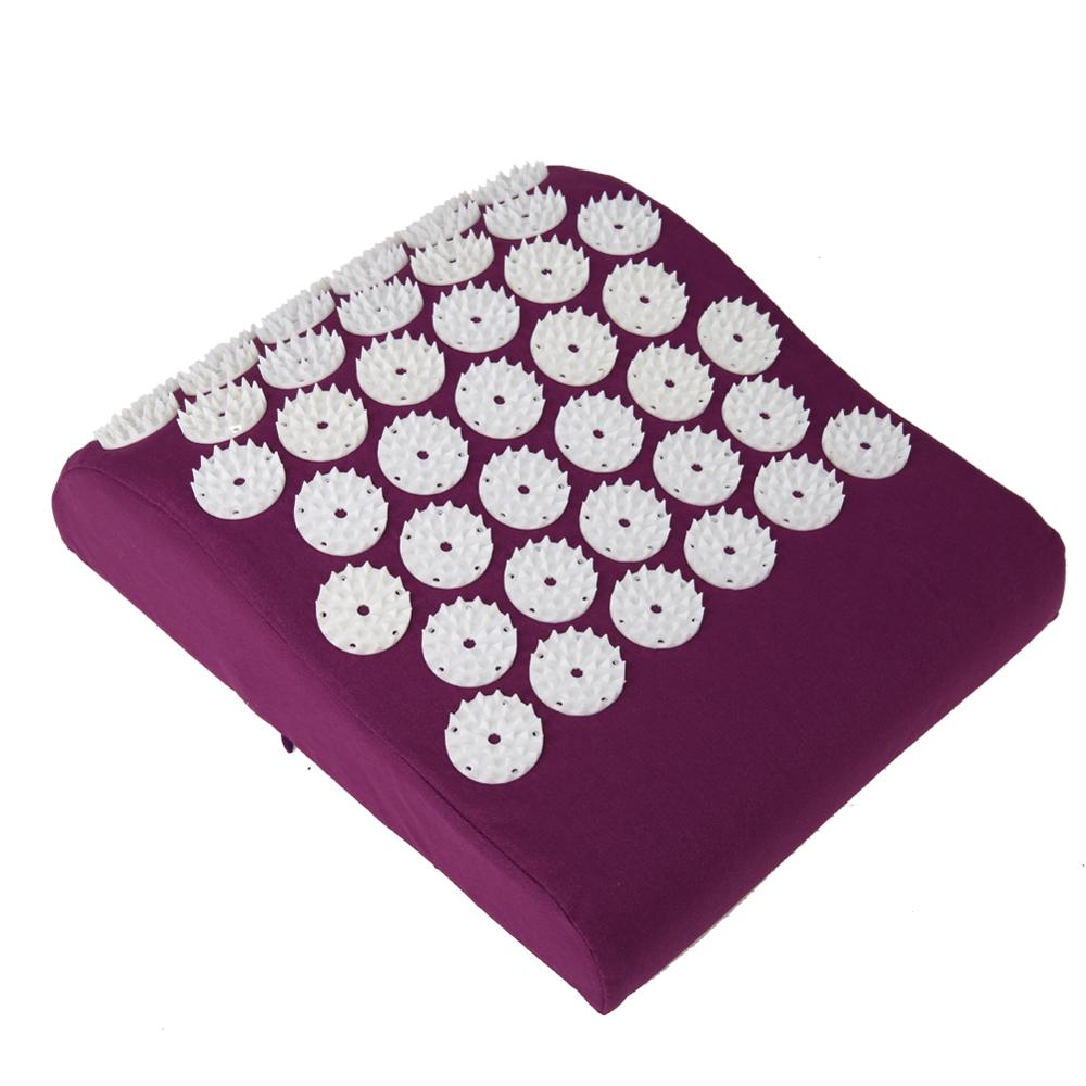Massage Cushion Acupressure mat Relieve Stress Pain Acupuncture Pillow Spike Yoga Neck Head Pain Stress Relief Pillow soft laser healthy natural product pain relief system home lasers