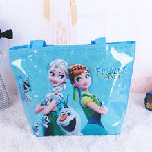 Disney princess children cartoon handbag Frozen Elsa girl gift shoulder high capacity bag