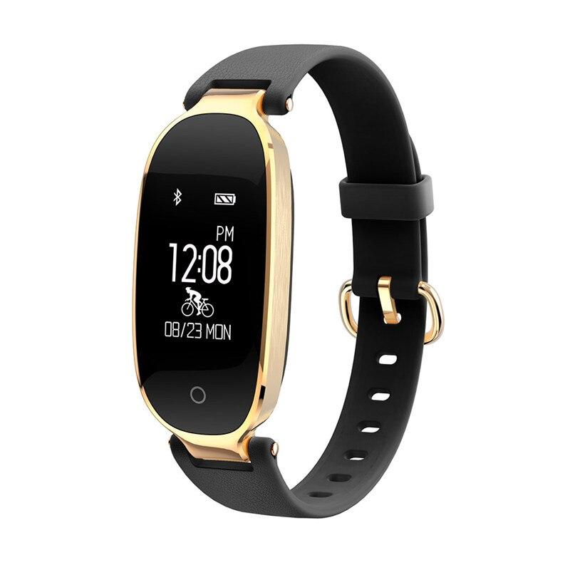 Moda S3 Bluetooth impermeable reloj inteligente moda mujer señoras Monitor de ritmo cardíaco Fitness Tracker Smartwatch para Android IOS