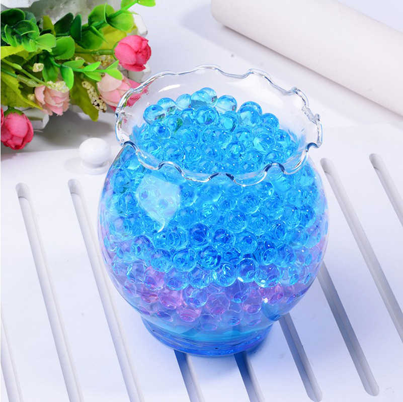 1 bags (100pcs)Crystal Soil Hydrogel Gel Polymer Water Beads Flower/Wedding/Decoration Maison Growing Water Balls Big Home Decor