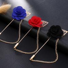 Fashion Gold Color Rose Brooch Pin Women Garment Accessories Jewelry Flower Brooches For Women Lapel Pins Broche XR164-XR166