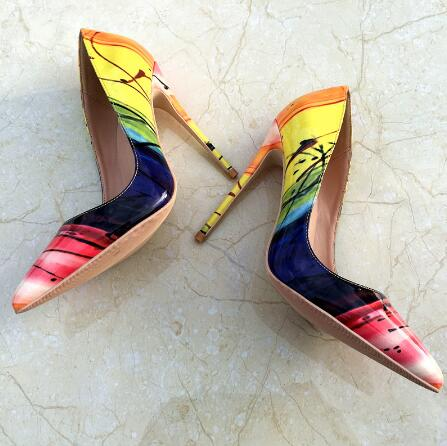 Fashion Rome Style Pointed Toe Gladiator Dress Shoes Sexy Patchwork Slip on Thin Heels Shoes Women Stiletto Party Wedding Shoes Fashion Rome Style Pointed Toe Gladiator Dress Shoes Sexy Patchwork Slip on Thin Heels Shoes Women Stiletto Party Wedding Shoes