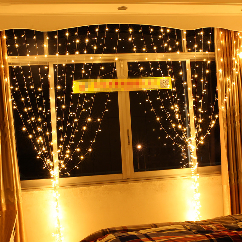 6*3 m LED curtain Light garland Holiday lighting String Fairy wedding party garden indoor outdoor Christmas Luminaria Decoration