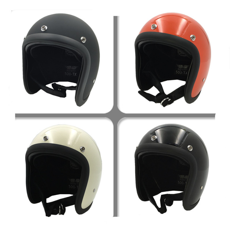 Vcoros Brand for TT&CO Thompson Open Face Motorcycle Helmet Vintage Motorbike Helmet Chopper Style Retro Helmets for bell helmet simple style vintage full face helmet custom made motorcycle helmet retro motor helmet