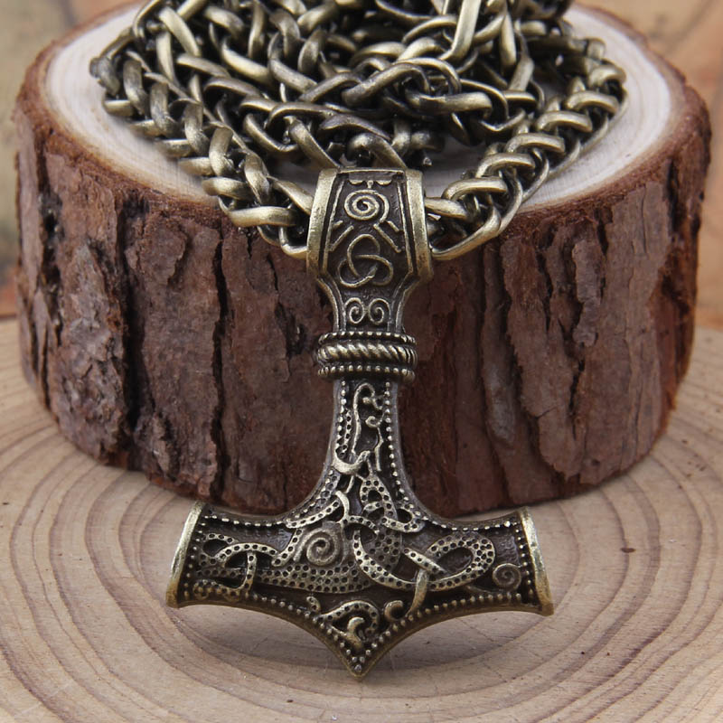 dropshipping 1 stk thor's hammer mjolnir anheng halskjede viking - Mote smykker - Bilde 6