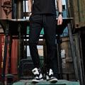 Abeillevie 2017 Новый Мужская Бегуны Мода Марка Штаны Случайные Спортивная Одежда Шаровары Карман На Молнии Брюки Мужчины Черный