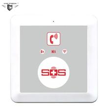 GSM домашняя сигнализация панель SOS звонящий сигнал аварийный SOS Кнопка телефонная панель для ухода за пожилыми людьми King Pigeon K1