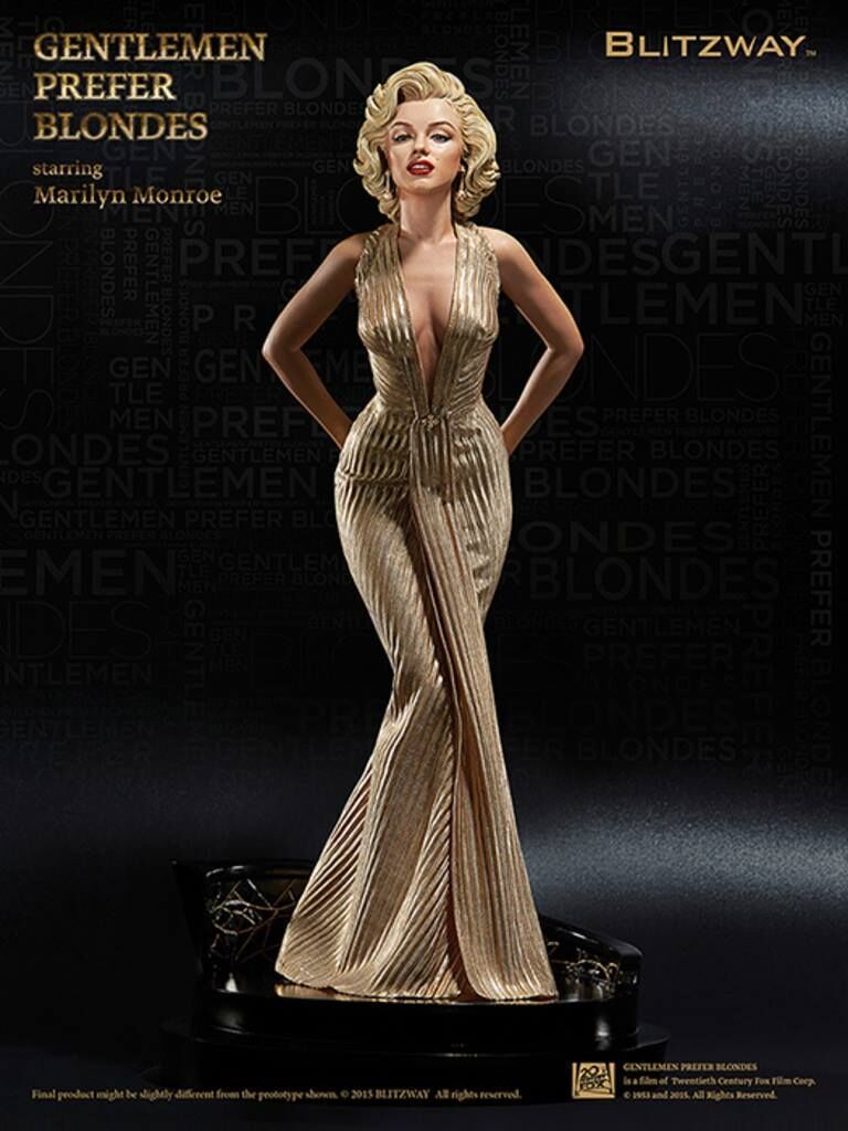 40cm <font><b>1/4</b></font> Scale Blondes Marilyn Monroe <font><b>sexy</b></font> Action <font><b>figure</b></font> Anime Doll PVC Collection Model Toy for friends gift image