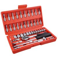 High Quality 46pc Spanner Socket Set 1 4 Car Repair Tool Ratchet Wrench Set Cr V