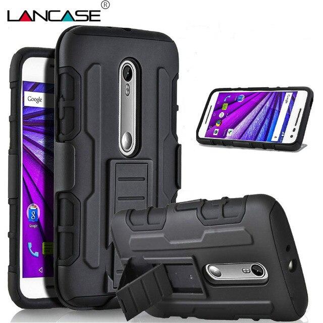 For Moto G4 Plus Case Hybrid Armor Case Coque For Motorola Moto G4 Plus G3 G1 X Play Cover G4 Case Silicon Belt Clip Holster