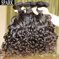 One Piece 7A Brazilian Virgin Hair Spiral Curly Candy Curly Natural Black Wet Weavy Women Wigs Jerry Curly Spark Mocha Hair