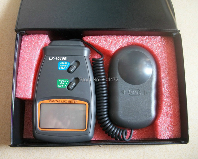 1pc free shipping New 3 Range Digital 50000 Lux Meter Photometer Luxmeter with retail box