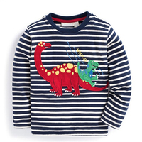 Baby Boys T Shirt Children Clothing 2017 Brand Clothes Boys Long Sleeve Tops Animal Appliques Kids