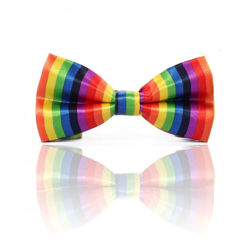ヾ(^▽^)ノColorido pajarita mens ajustable color Arco Iris auto ...