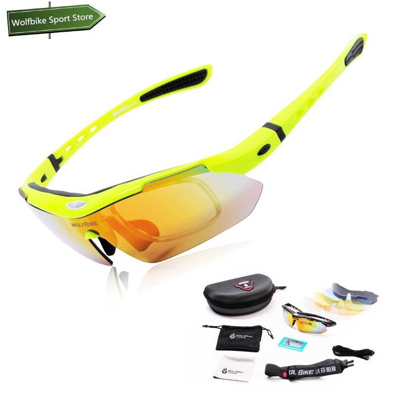 Prix pour WOLFBIKE Vélo Lunettes de sport lunettes Polarisées Sports de Plein Air Vélo lunettes de Soleil Vélo Lunettes avec Multi-couleur Lentille