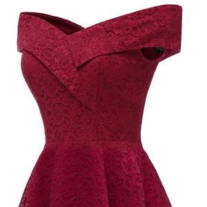 Image 4 - CD1610J # סירת צוואר בורדו קצר תחרה שושבינה שמלות חתונת מפלגה שמלת שמלת נשף סיטונאי הכלה חתונה טוסט בגדים