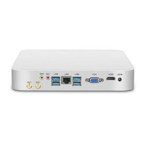 Мини ПК Intel Core i7 7500U i5 7200U процессор офисный компьютер 4K WiFi HDMI VGA 6 * USB Gigabit Ethernet Windows 10 Linux HTPC