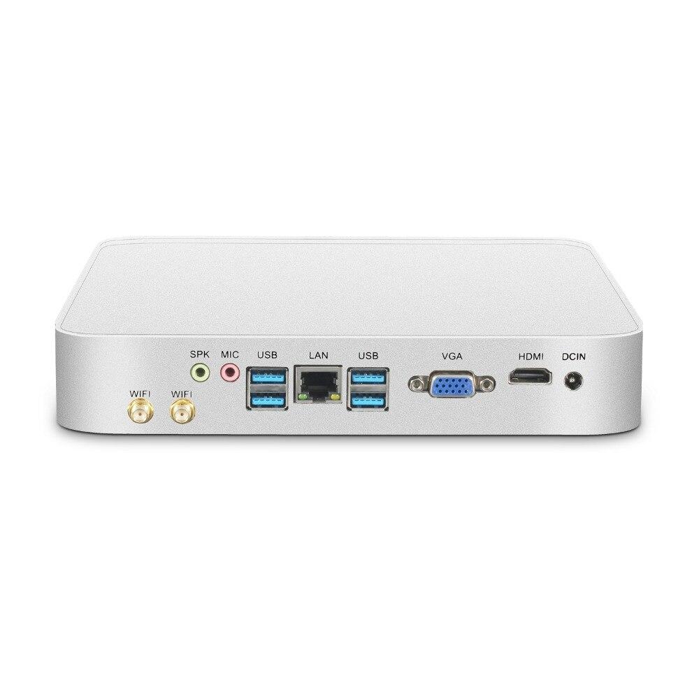 Mini PC Intel Core i7 7500U i5 7200U i3 7100U ordinateur de bureau 4 K 300 M WiFi HDMI VGA 6 * USB Gigabit Ethernet Windows 10 Linux HTPC