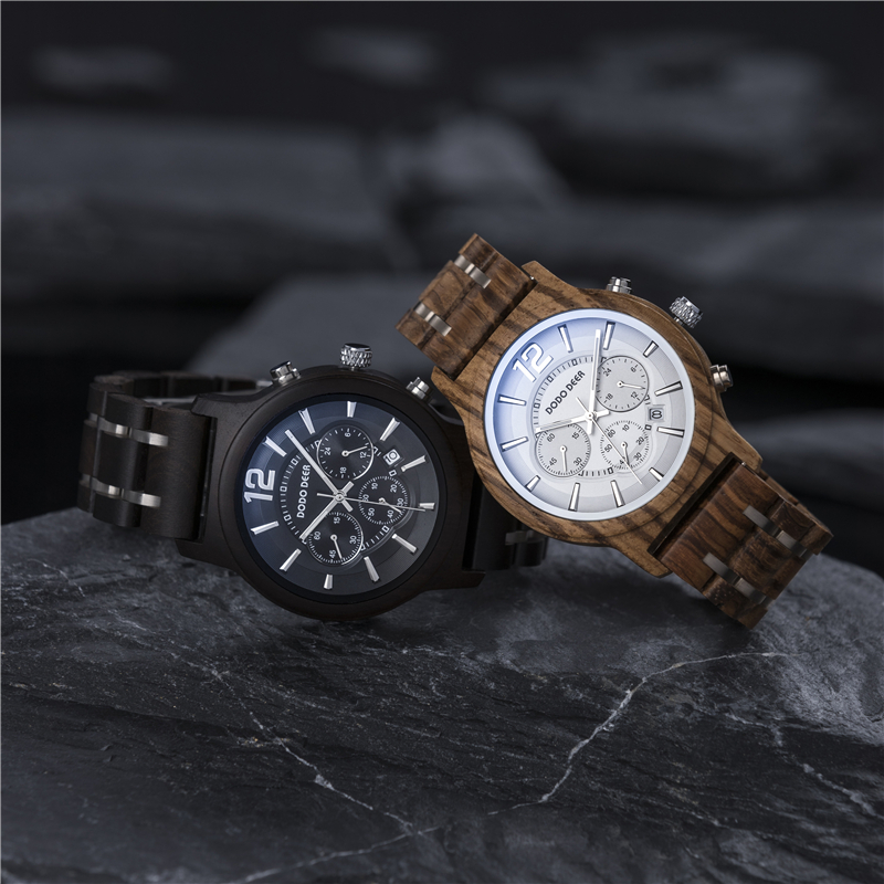 Male Watch Men Quartz Timepieces Man DODO DEER Magnetic Strap Luminous Hand Three eyes relogio masculino Thin Clock Fashion C13
