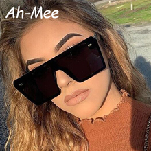 2019 Luxury Brand Oversized Square Sunglasses Women Retro Designer One