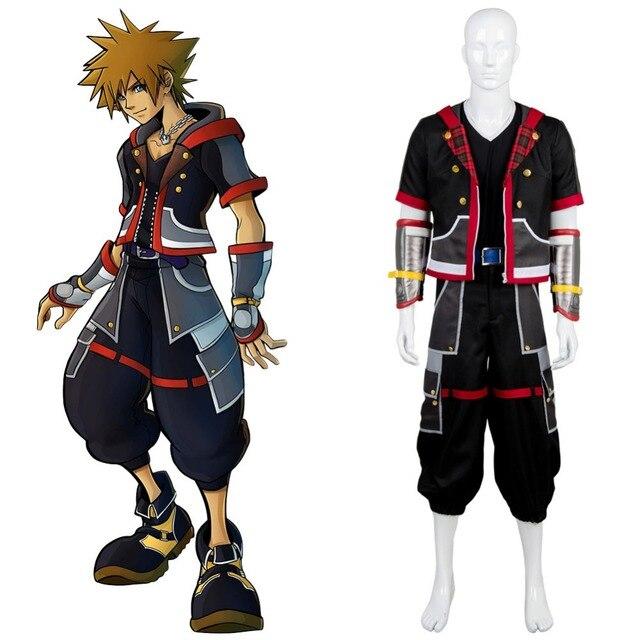 Cosplay Kingdom Hearts III Protagonist Sora Outfit Uniform Costume Halloween