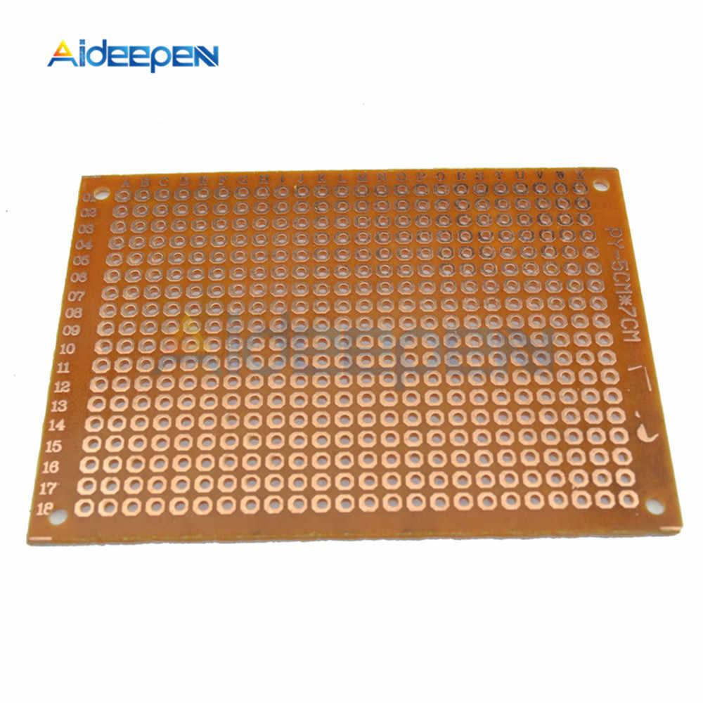 5 pièces simple face bricolage Prototype papier PCB universel expérience matrice Circuit imprimé 5x7CM 50x70mm 2.54mm