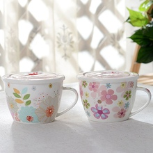 NEW!!!Lovely Instant Noodles Bowls Porcelain Ramen Bowl Chinese Soup Salad Bowl Mixing Bowls Food Container Tableware