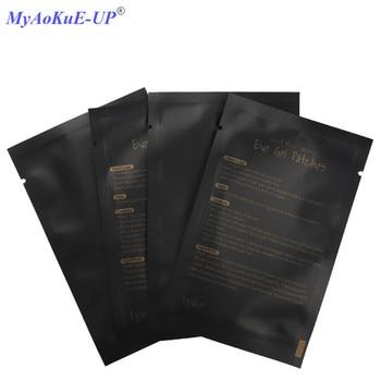 50pairs/pack Black Packing Under Eye Pads Eyelashes Paper Patches Tips Sticker Wraps Eyelash Extension Make Up Tools