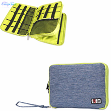 1Pcs Blue 28cm*21cm Storage Bag For Cable Wires Of Telephone,Digital camera,Laborious Disk,U-Disk