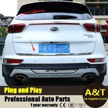 2016 2017 modelo de coche que labra para Kia Sportage KX5 de alta calidad borde de la puerta de Escape de acero inoxidable ajuste de la decoración 1 unids Coches Accessori