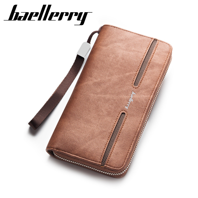 carteira Masculina Luxury Wallets Double Zipper Leather Male Purse Business Men Long Wallet Designer Brand Mens Clutch Handy Bag luxury brand women wallets business wallet long designer double zipper leather purses id card holder purse phone case clutch