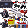 Tattoo kit tattoo machine set 2machines permanent makeup 7color inks Body Art  kit  YLT-80