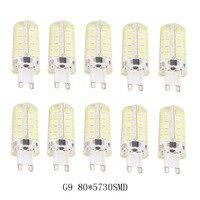 5pcs 10pcs LED Spotlight Bulb Lamp G9 80*5730SMD Silicone Light Dimming AC220V 110V 3.5w Camper Marine Light Bulb Lamp led light