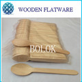 200x Disposable Wooden Spoon Heavy Weight 100 / Pack 6 1/2 165mm BIG Flatware Cutlery Camping Free Shippping