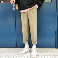 2018 Summer New Product Male Leisure Time Fashion Youth Straight Loose Casual Cotton Cargo Pants Solid