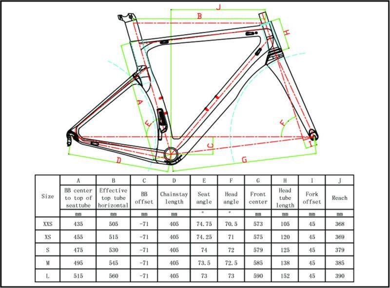 2017 Carbon Road Bike Frame Cipollini Nk1k T1000 3k Carbon